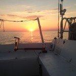 coucher de soleil en mediterranée
